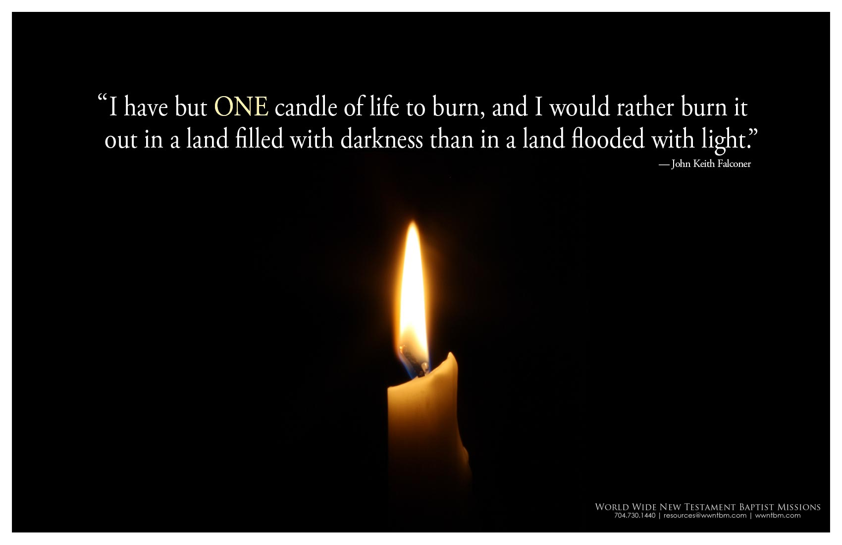 Candle poster
