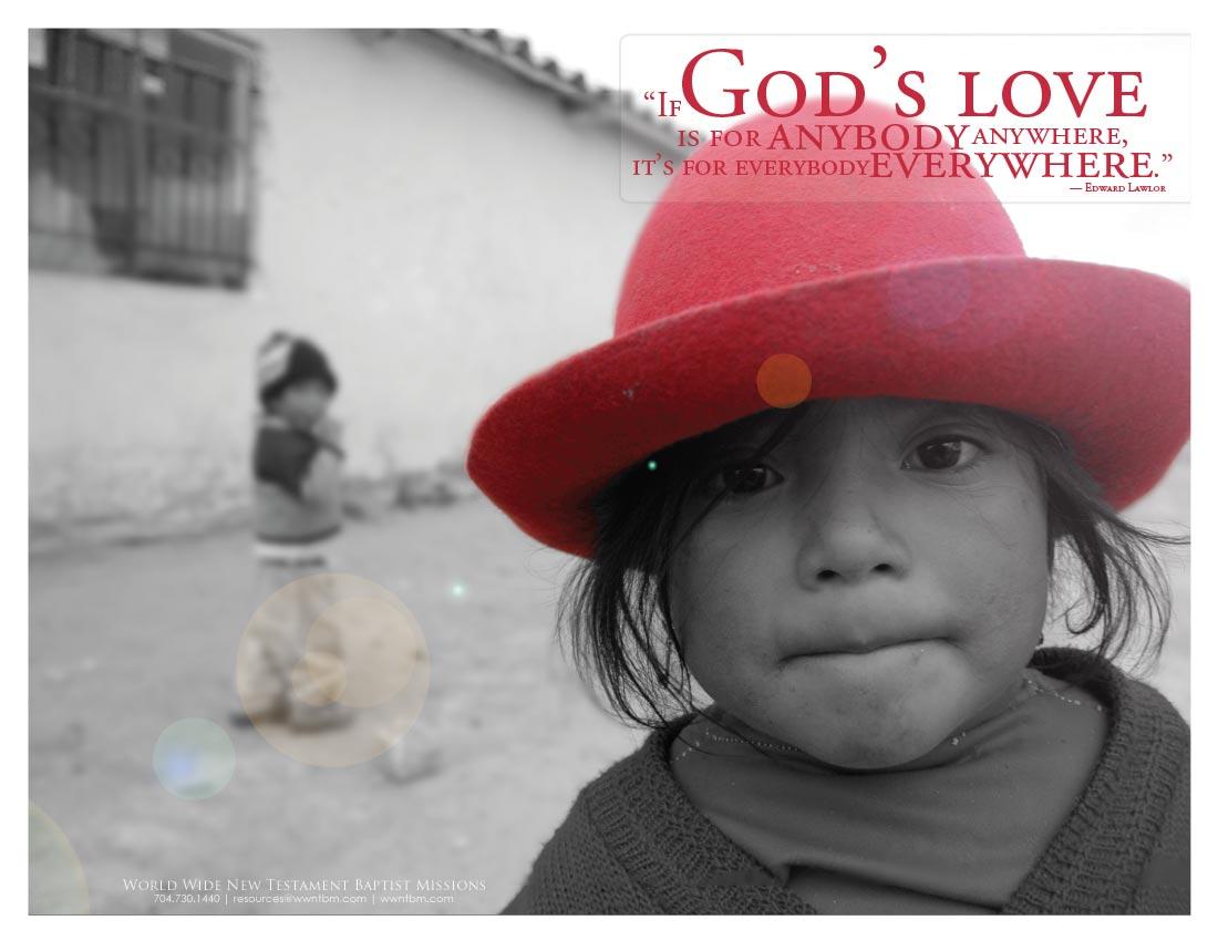 God's Love bulletin
